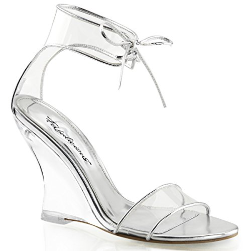Clear Strap Fabulicious Closed 460 Clear Wedge Back LOVELY Ankle Sandal SSqXBR8Pn