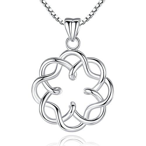 Plating Platinum (Platinum Plating Irish Celtic Knot Vintage Infinity Endless Love Pendant Necklace, 18
