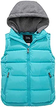 ZSHOW Girls' and Boys' Warm Hooded Puffer Vest Thicken Padded Jacket Win