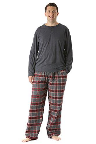 #FollowMe 44911-4-M Pajama Pants Set for Men/Sleepwear/PJs,Plaid (Mens Pj Set)