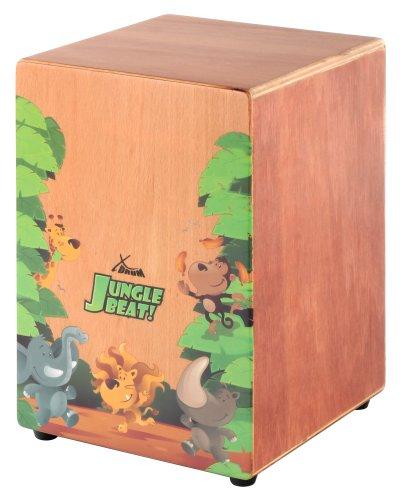 XDrum Jungle Beat Kinder Cajon (Mit Tasche, Snare Sound, auch als Sitzmöbel verwendbar)