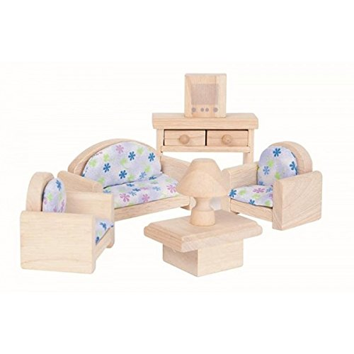 Plan Toy Doll House Living Room - Classic Style, colors may vary (Room Sets Living Uk Furniture)