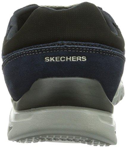 Skechers L-FitComfort Life - zapatilla deportiva de piel hombre azul - Blau (NVGY)