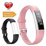 Lintelek Fitness Tracker, Slim Activity Tracker with Heart Rate Monitor, IP67 Waterproof Step...