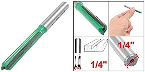 BERYLX Herramienta de Broca Recta para Flauta Doble de 1//4x 1//4 para carpinter/ía
