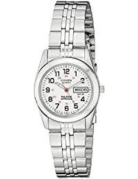 Citizen Womens Quartz Stainless Steel Watch with Day/Date, EQ0510-58A