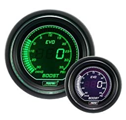 Boost Gauge- Electrical Digital Green/white EVO Series 52mm (2 1/16\