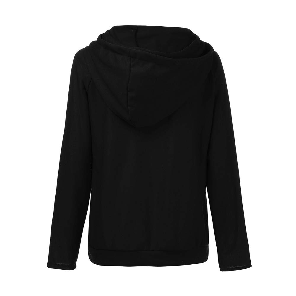 Star/_wuvi Womens Oblique Zipper Hoodie Sweatshirt Casual Solid Long Sleeve Hooded Pullover Tops with Pockets