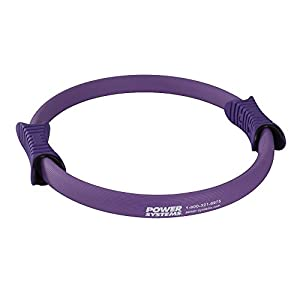 Power Systems Fiberglass Pilates Ring with 2 Handles, Light Resistance, 15 Inch Diameter, Purple (83921)