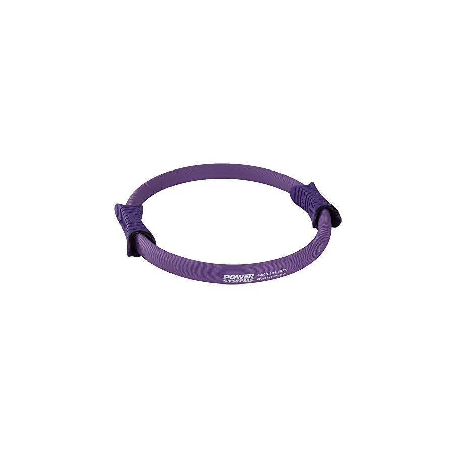 Power Systems Fiberglass Pilates Ring with 2 Handles, Light Resistance, 15 Inch Diameter, Purple (83921)