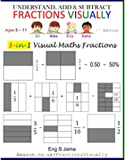 UNDERSTAND, ADD & SUBTRACT FRACTIONS VISUALLY: 3-in-1 Visual Maths Fractions