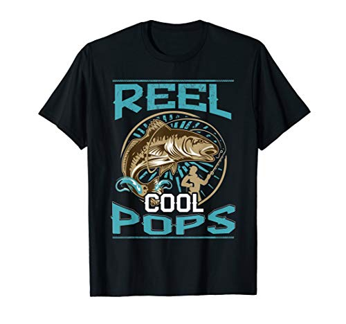 Reel Cool Pops - Fishing Gift T Shirt For Dad Pops