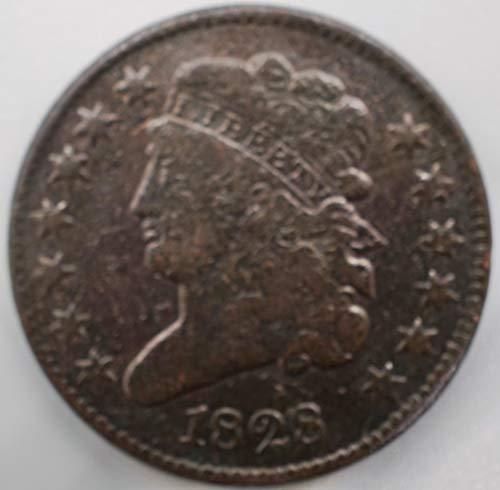 1828 Classic Head Half Cent 1/2¢ Fine