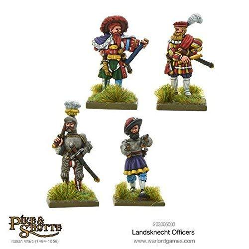 Warlord Games, Landsknechts officers, Pike & Shotte Wargaming Miniatures
