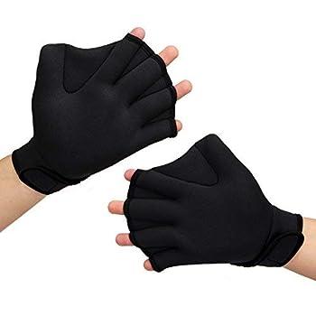 PAMASE Water Aerobics Swimming Gloves
