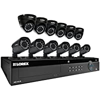 Lorex 16 Channel 4K 4MP 12 Camera Security System NR9163 3TB HDD 6 4MP LNB4321B Bullet Cameras 6 4MP LNE4322B Dome Cameras with Color Night Vision