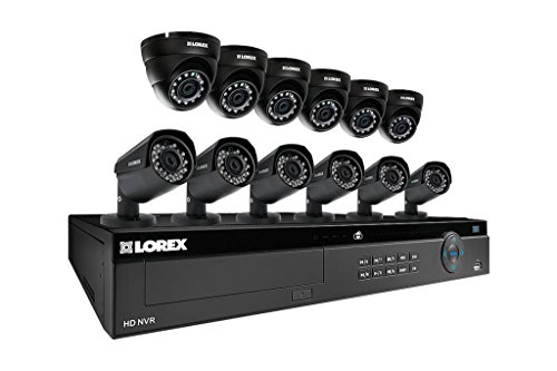 Lorex 16 Channel 4K 4MP 12 Camera Security System NR9163 ...