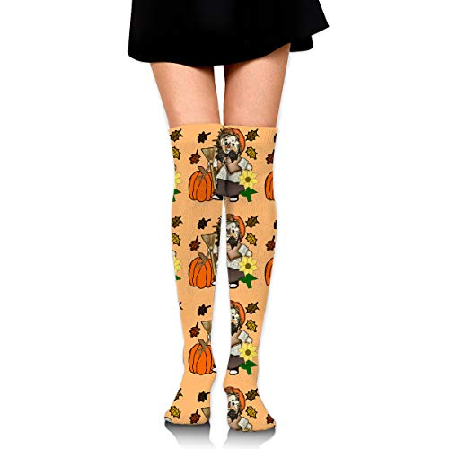 Scarecrow Pumpkin Flowers Female Ladies Women Girl Teen Kid Youth Leg Tall Mid Thigh High Knee Long Tube Over The Knee Stocking Costume Gifts Clothes Dresses Apparel Thy Thi Hi Attire -