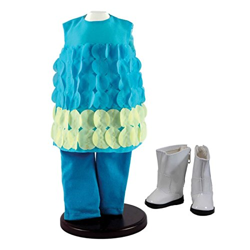 The Queen's Treasures Complete Turquoise Legging Doll Clothing Outfit Comes Complete with White Go-Go Boots! Clothes & Accessories are Perfectly Sized for 18 Inch American Girl (White Gogo Boots Cheap)