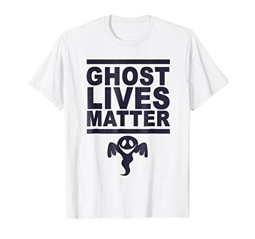 Mens Ghost Lives Matter T-Shirt Funny Halloween Costume Top Tee Large White for $<!--$12.89-->