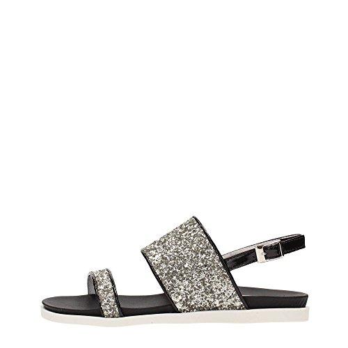 TOSCA BLU (Iolite) Sandalo Donna Pelle Glitter Platino SS1615S283
