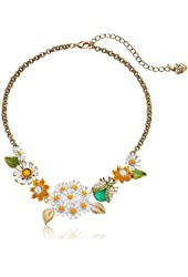 """Betsey Johnson """"Flower Child"""" Daisy and Critter Necklace"""