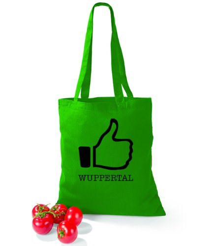 Artdiktat Baumwolltasche I like Wuppertal Kelly Green YlEibkO
