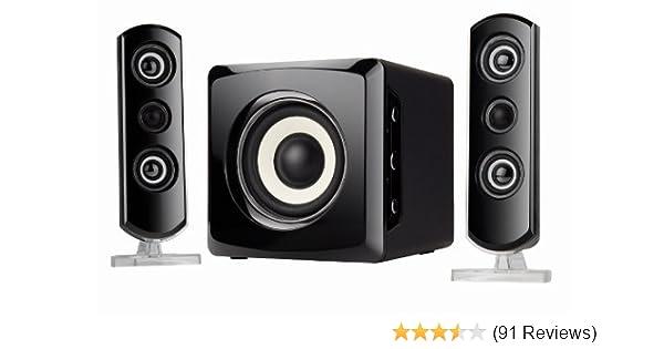 Amazon Com Sylvania Shtib1046 Bt 2 1 Bluetooth Home Computer Speaker System Home Audio Theater