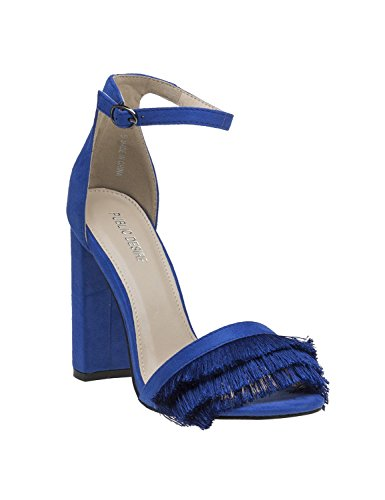 PUBLIC DESIRE Pepper Sandals Blue Blue 008cV2