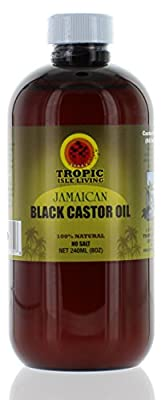 Jamaican Black Castor Oil 8oz, Plastic PET Safe Bottle