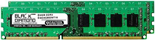 8GB 2X4GB RAM Memory for Gateway SX Series SX2800 DDR3 DIMM 240pin PC3-6400 800MHz Black Diamond Memory Module Upgrade