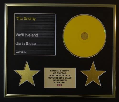 THE ENEMY//CD DISPLAY//LIMITED EDITION//COA//WELL LIVE AND DIE IN THESE TOWNS