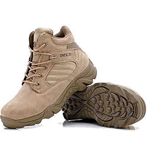 Lavoro Marrone Uomo Uniforme Boots Delta Lilichan Della Laterale Caviglia Stivali Zip Tattici Militari 7zqwTxwAZ