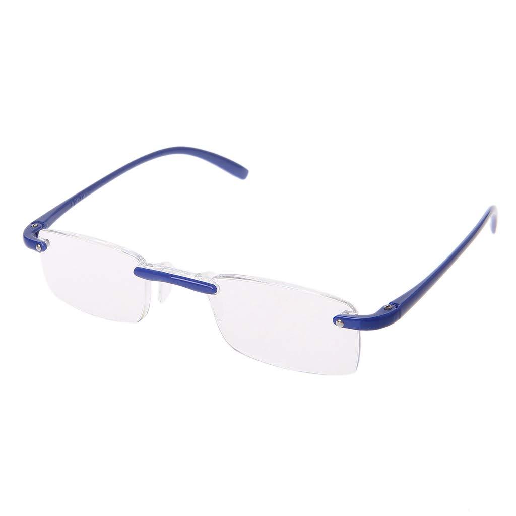 Lergo Fashion Unisex Clear Rimless Reading Glasses Flexible Eyewear For Reader +1.00 To 4.00
