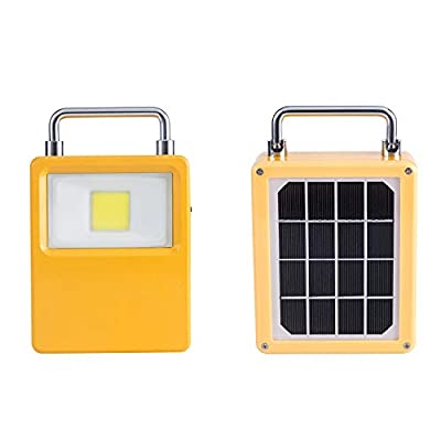 Rechargeable Work Light, Solar Outdoor LED Portable Emergency Light, 10W Flood Light Waterproof Solar Powered Lights with Backup Power Bank Function for Camping, Hiking and Emergency Use