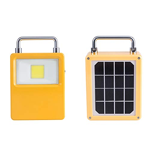 LED Work Light, Solar Outdoor Portable Emergency Light, Rechargeable 10W Flood Light Waterproof Solar Powered Lights with Backup Power Bank Function for Camping, Hiking and Emergency Use