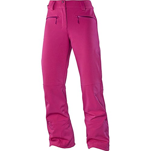 Salomon Women's Snowtrip Pant, Daisy Pink, Large