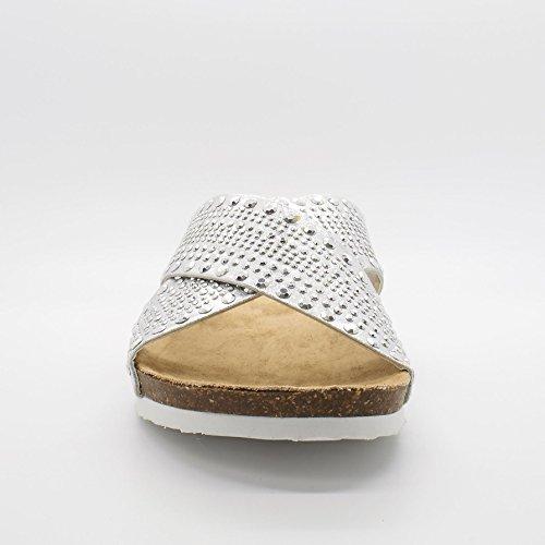 Silver scarpe Incrociate Donna Con London Da In Lara Gomma Muli Spalline 6awq1vaxp