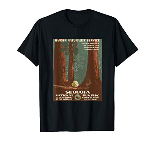 Sequoia National Park T-Shirt, Camping in the Redwood Forest (Best Camping In Redwood National Park)