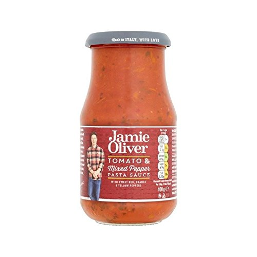 Pasta Fresh Mozzarella (Jamie Oliver Tomato & Mixed Pepper Pasta Sauce 400g - Pack of 2)