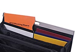 RFID Blocking Sleeves Travel Set for Security of Credit/ Debit Cards and Passports Products (12+2, 6 Colors)
