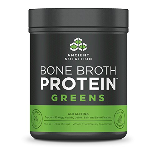 Ancient Nutrition Bone Broth Protein Powder, Greens Flavor, 20 Servings Size