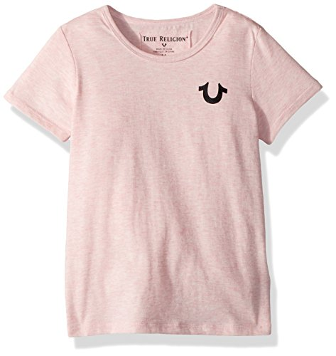 6dc845017 Galleon - True Religion Toddler Girls' Fashion Short Sleeve Tee Shirt,  Dusty Pink, 2T