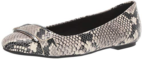 Calvin Klein Women's Oneta Ballet Flat, Natural Two-Tone Snake, 7 Medium US