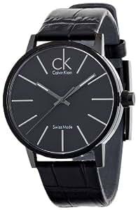 Calvin Klein post-minimal K7621401 - Reloj de caballero de cuarzo, correa de piel color negro
