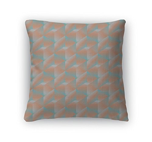 (Gear New Throw Pillow Accent Decor, Bright Color Geometric Mosaic Endless Pattern Cube Wallpaper, 20