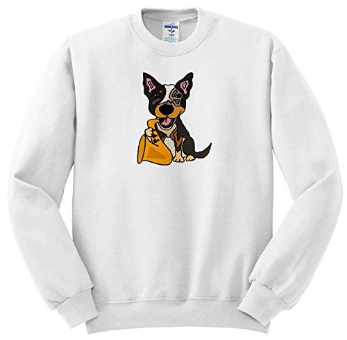 All Smiles Art Music - Funny Cute Australian Cattle Dog Puppy Playing Saxophone - Sweatshirts - Adult SweatShirt Small (ss_256455_1) ()