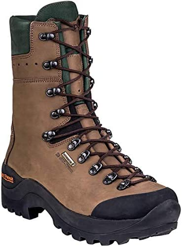 KENETREK Men s Mountain Guide 400 Insulated Abrasion-Resistant Waterproof Stitched Leather Hiking Boots
