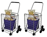 The Faucet Queen Deluxe Stair Climber Cart | Folding Cart - Great for Shopping, Camping, Sport Events, & Much More (2-(Pack))