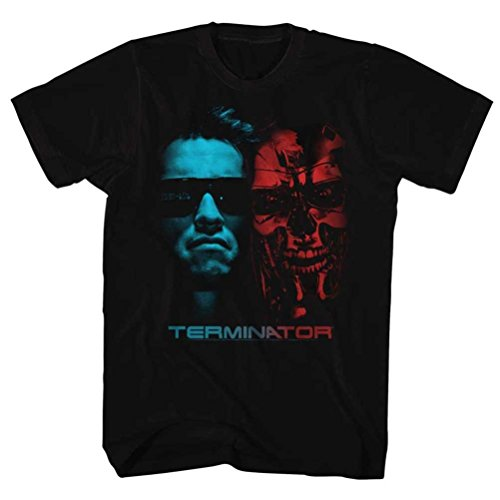Terminator Two Faces T-Shirt, Black - S to 6XL